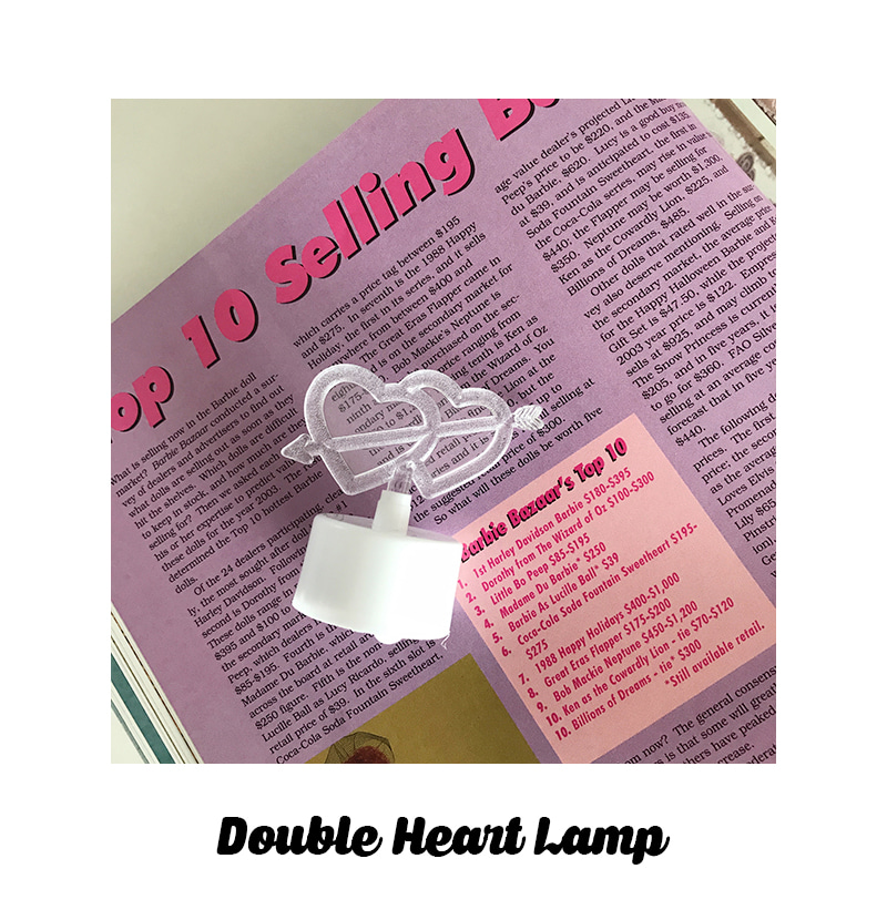 Double Heart Lamp - 메종드알로하, 3,000원, 이벤트조명, 이벤트조명